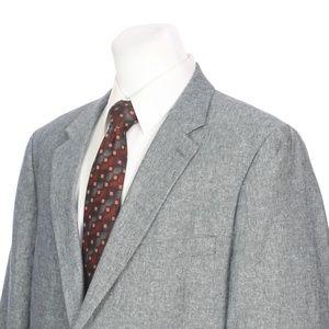 Stafford Two Button Gray Linen Cotton Sport Coat